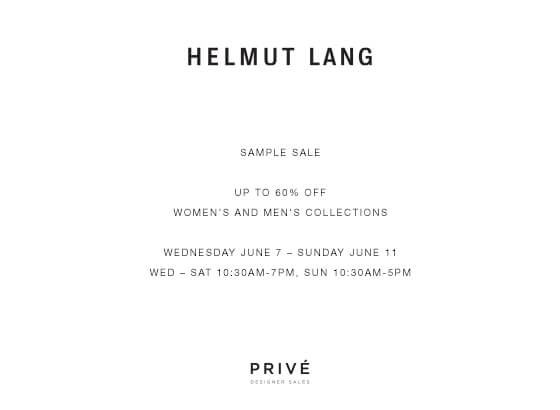 Helmut Lang_Sample Sale
