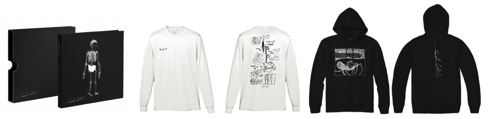 Tees and sweatshirts from the Kurt Cobain collection