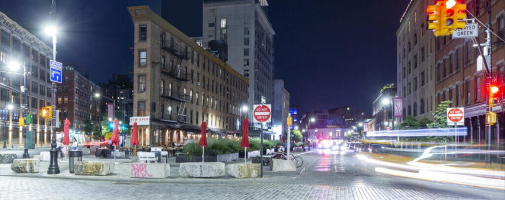 Little Flatiron building where CSTM Haus is located in Meatpacking